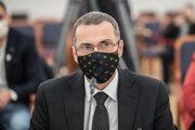Kandidát na generálneho prokurátora Maroš Žilinka počas schôdze Ústavnoprávneho výboru NR SR, ktorý vypočúva kandidátov na generálneho prokurátora.