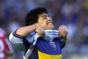 Diego Maradona - archívna fotografia z roku 2011.