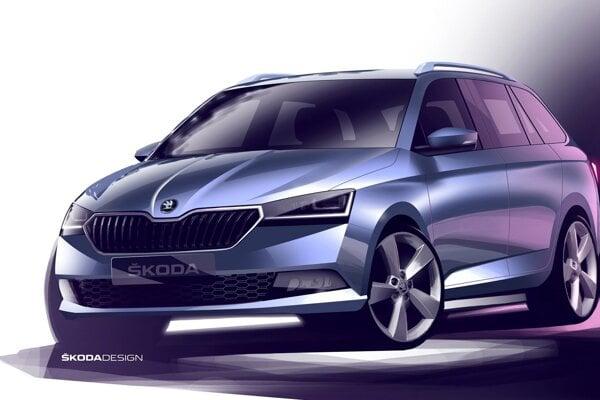 Skica Škody Fabia Combi tretej generácie po facelifte z roku 2018.