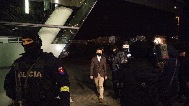 Haščák počas zadržania.