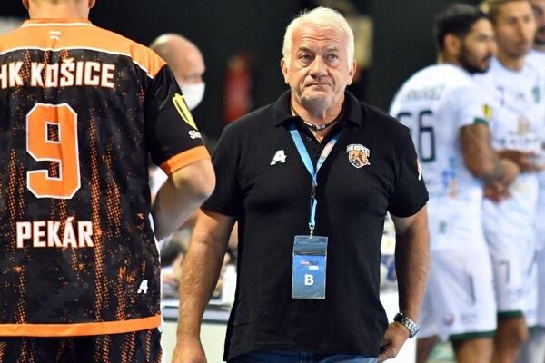 Tréner HK Košice Martin Lipták.