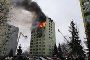 Výbuch bytovky na Mukačevskej ulici 6. decembra 2019.