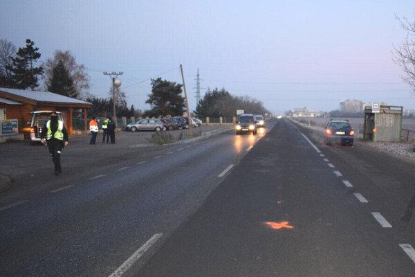 Nehoda na Jurskej ceste v Leviciach.