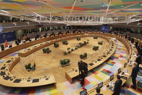 Summit lídrov Európskej únie v Bruseli.