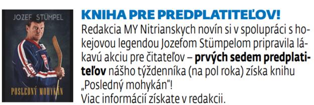 Predplatiteľská súťaž. Viac informácií získate v redakcii MY Nitrianskych novín.