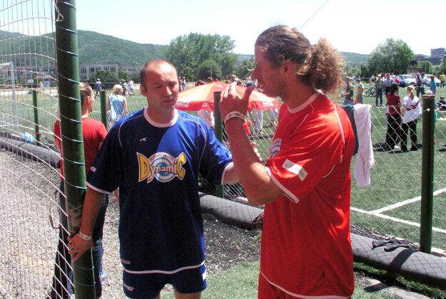 Vlastimil Plavucha s Michalom Handzušom na archívnej snímke.
