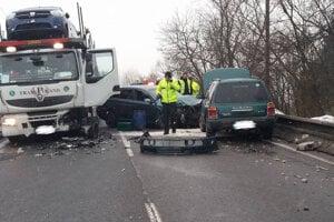 Vážna dopravná nehoda vobci Svrčinovec vlokalite U Mišov – január 2019.