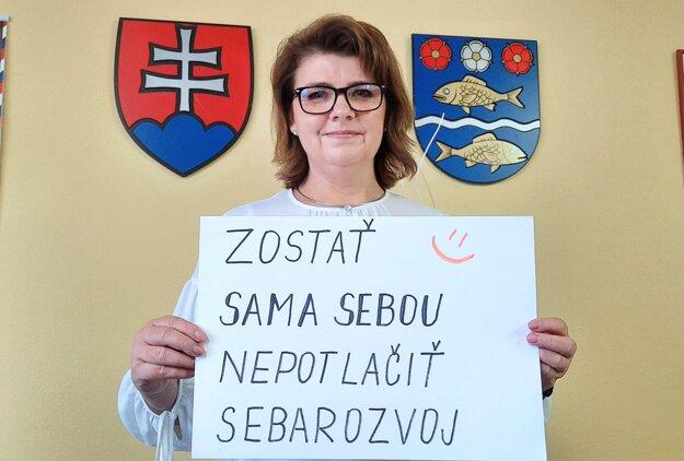 Iveta Balšianková, starostka Dolného Kalníka.