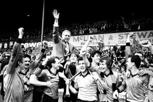 Jim McLean doviedol škótsky klub Dundee United k ich jedinému titulu. Klub viedol 22 rokov.