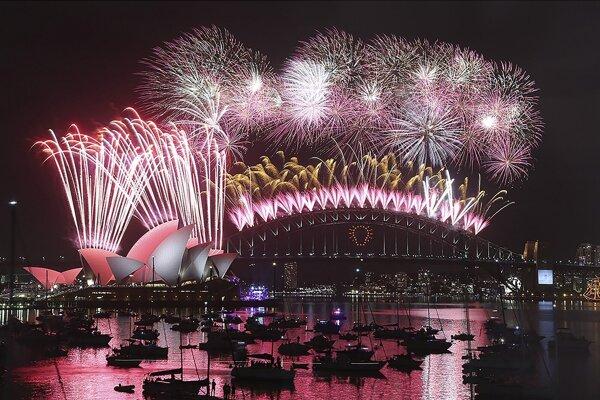 Ohňostroj v Sydney.