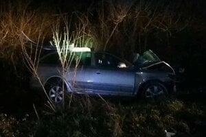 Po nehode, jedno z vozidiel.