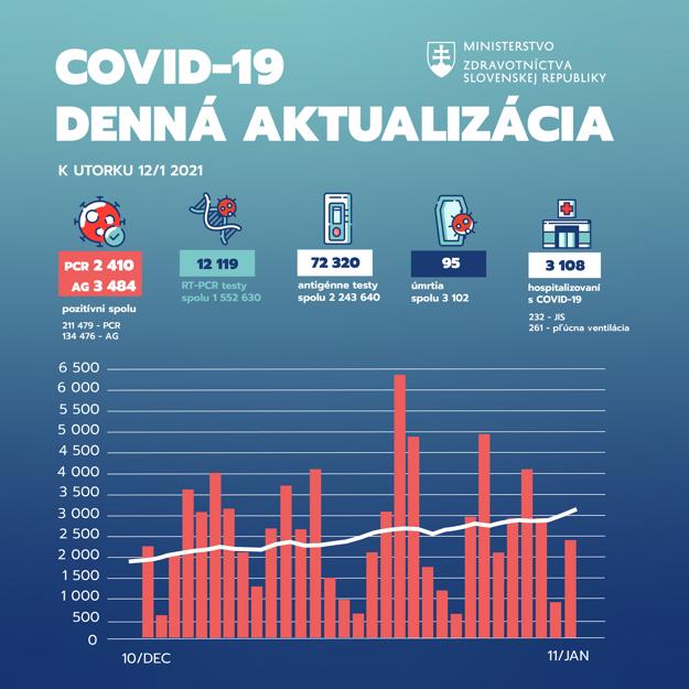 Štatistika za 11.1.2021.