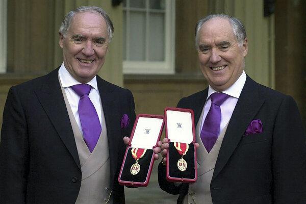 David Barclay (vľavo) so svojím bratom.