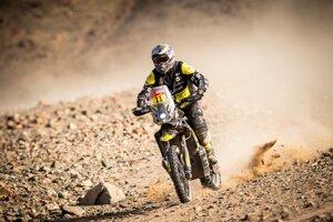 Štefan Svitko v 11. etape na Rely Dakar 2021.