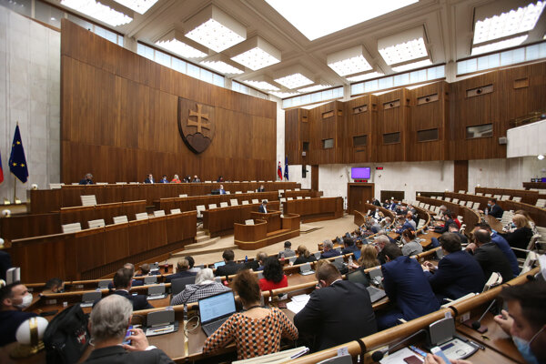 Rokovanie 22. schôdze Národnej rady SR.