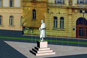 Takto mala vyzerať socha generála pre súdom od Miroslava Tomašku.