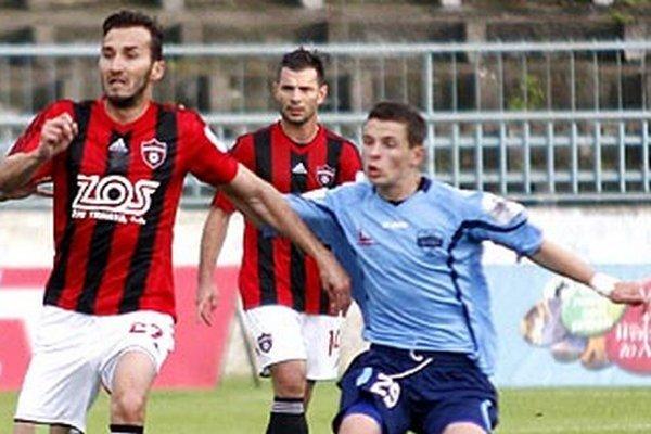 Nikolas Špalek hral aj proti Trnave na poste defenzívneho stredopoliara.