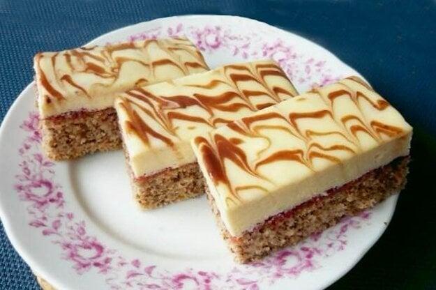 Orechové rezy s bielou čokoládou
