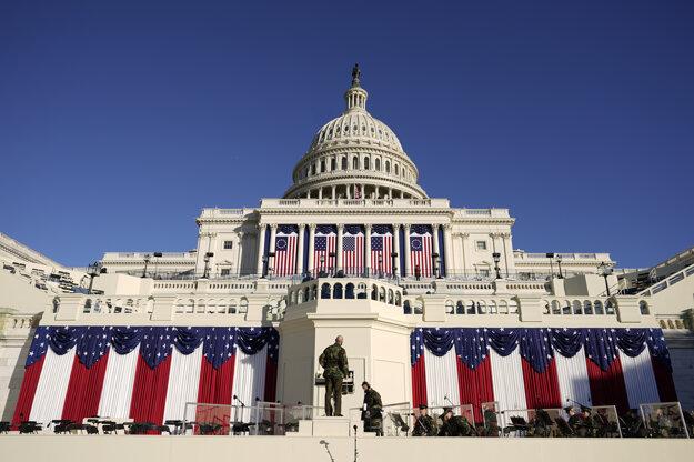 Záverečné prípravy pred 59. inauguráciou amerického prezidenta.