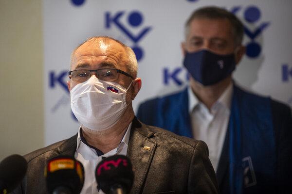 Prezident Konfederácie odborových zväzov (KOZ) SR Marián Magdoško.