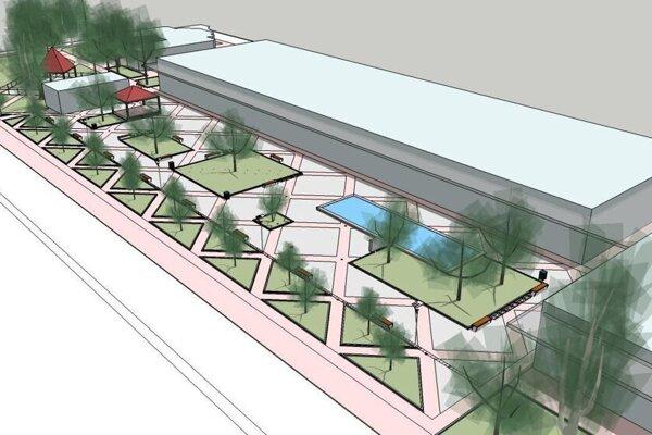 Vizualizácia rekonštrukcie námestia.