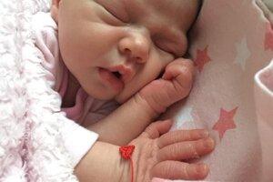 Karolína Gregorová (3080 g, 50 cm) sa narodila 8. januára Lívia a Karol z Nového Mesta nad Váhom.