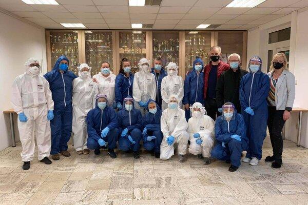 Spoločné foto po testovaní v Kysuckom Novom Meste.