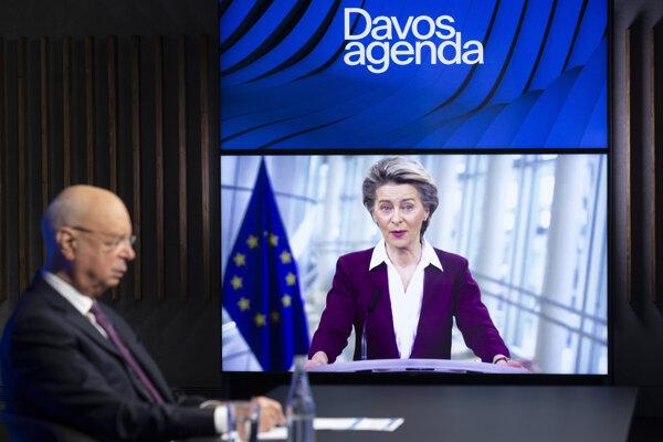 Ursula von der Leyenová na online Svetovom ekonomickom fóre uviedla.