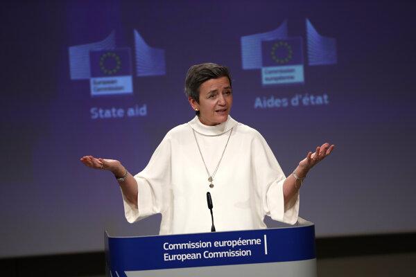 Výkonná podpredsedníčka eurokomisie pre politiku hospodárskej súťaže Margrethe Vestagerová.