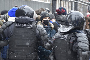 Protesty v Rusku za oslobodenie Alexeja Navaľného.
