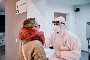 Testovanie na koronavírus v Žiari nad Hronom.