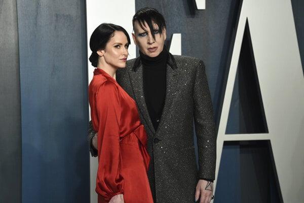 Marilyn Manson so súčasnou manželkou Lindsay Usich