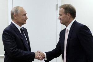 Vladimir Putin s Viktorom Medvedčukom.