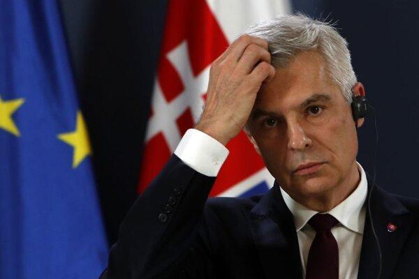 Minister zahraničných vecí Ivan Korčok v priebehu návštevy Srbska.
