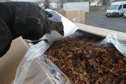 Kamión prevážal 14 ton tabaku.