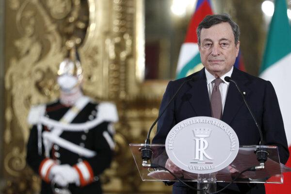 Nový taliansky premiér Mario Draghi.