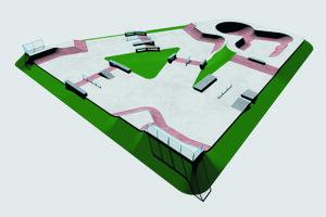 Takto bude skejtpark vyzerať.