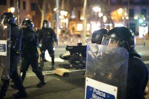 Protest proti zatknutiu španielskeho rapera.