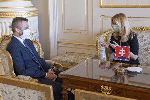 Peter Pellegrini a prezidentka Zuzana Čaputová.