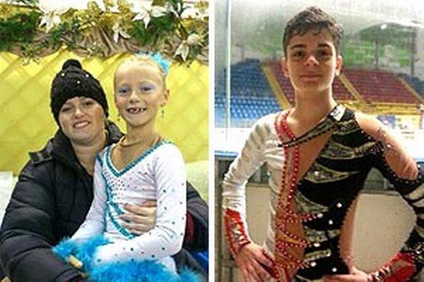 Tréner KKM Nitra Lucia Starovičová s Linou Ballovou. Vpravo Simon Fukas.