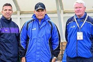 V druhej polovici jesene bol šéfom realizačného tímu Šale Ondrej Takács (vpravo), asistovali mu Milan Mrllák (v strede) a Oskar Lancz.