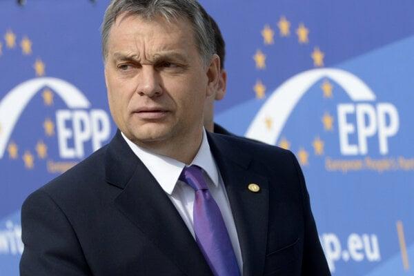 Maďarský premiér Viktor Orbán na zjazde EPP v roku 2013.