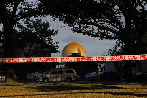 Mešita v meste Christchurch, Nový Zéland.
