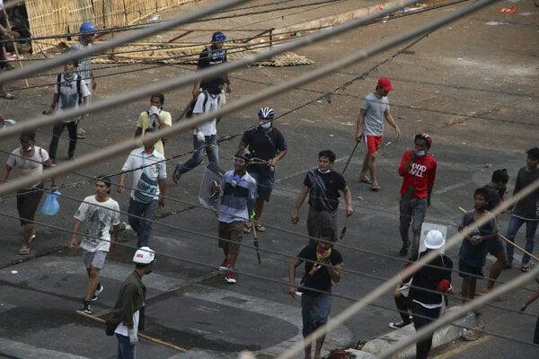 Protesty v Mjanmarsku