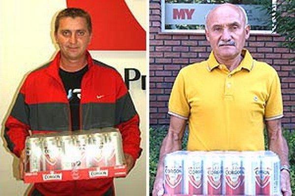 Na snímke víťazi 3. a 4. kola - Slavomír Sysel a Miroslav Kováč.