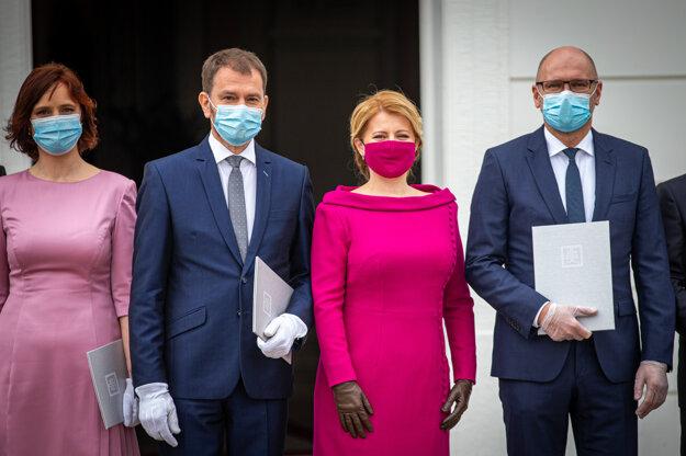 21. marec 2020. Vymenovanie vlády prezidentkou v Prezidentskom paláci v Bratislave.