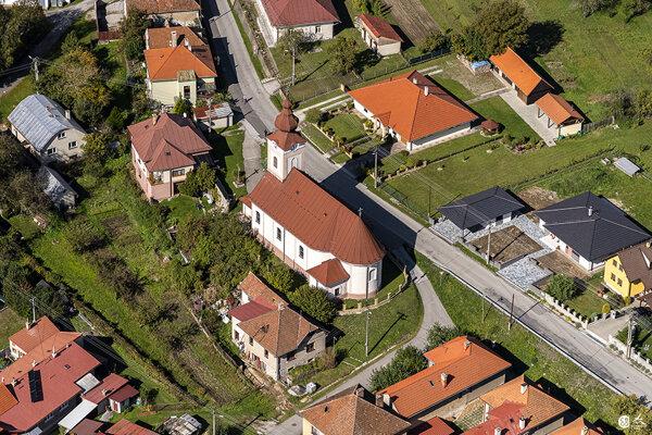 Letecký pohľad na Medzibrod.