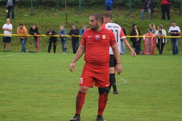 Jedna z najväčších osobností piatej ligy - kapitán Višňového Martin Minarčík.