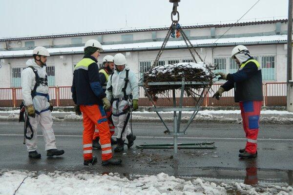 Záchranná akcia v Lieskovci.
