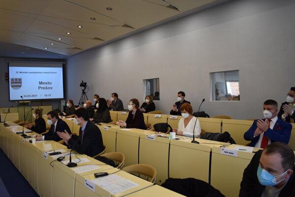 Prešovské zastupiteľstvo počas stredajšieho rokovania.